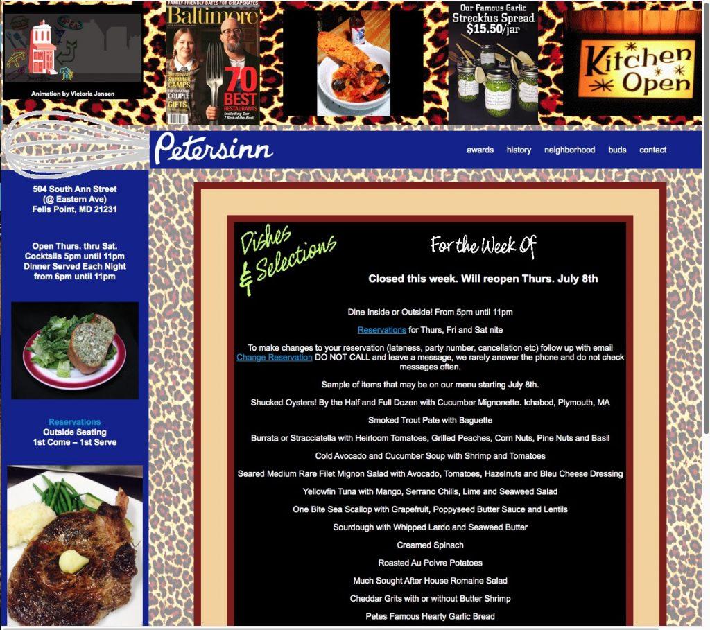 Peters Inn Website